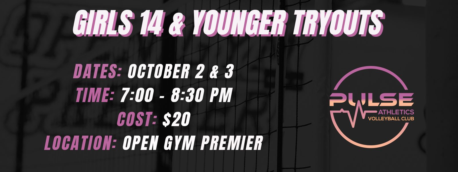 Click for Pulse Girls Tryouts Event Information
